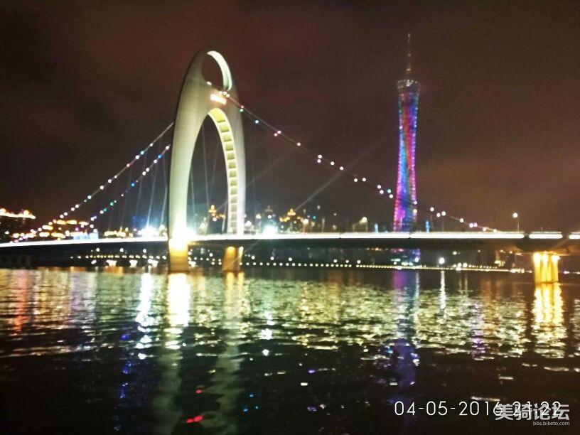 广州夜景。