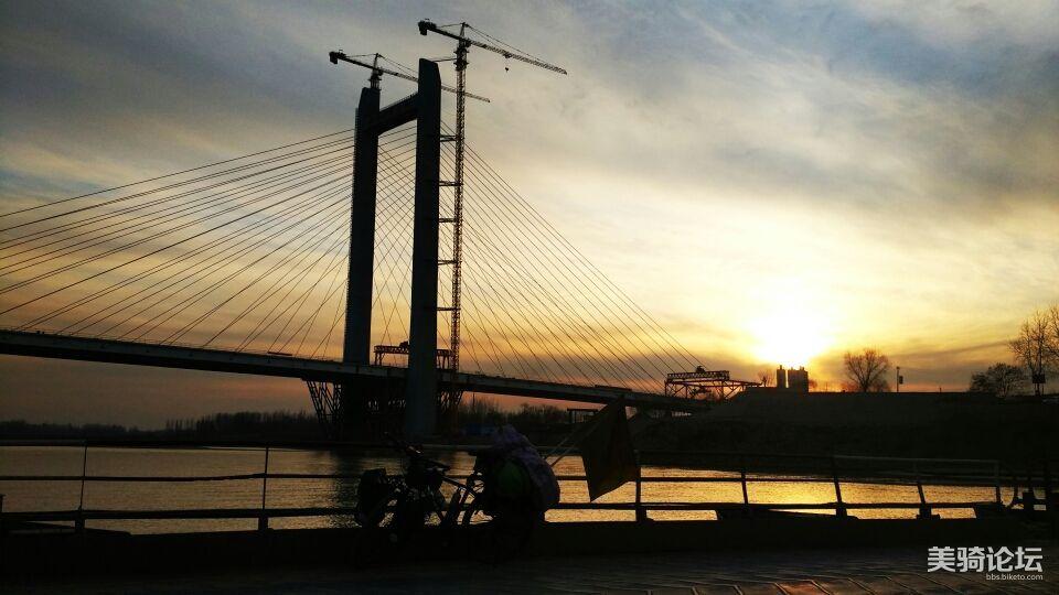 黄河夕阳。